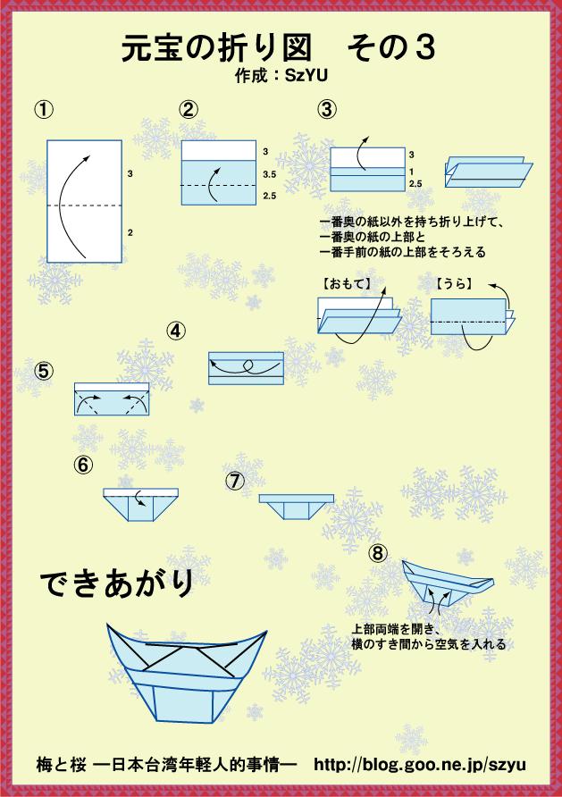 すべての折り紙 紙風船の折り方 : 映画!紙風船 折り紙 折り方の ...